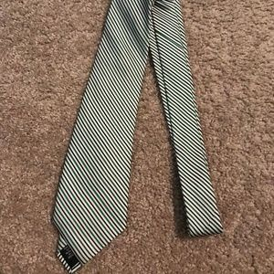 Ben Sherman | Mens Silk Tie Green/Blue Stripe